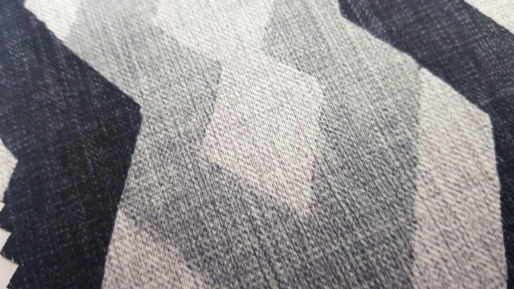 Patterned curtain swatch