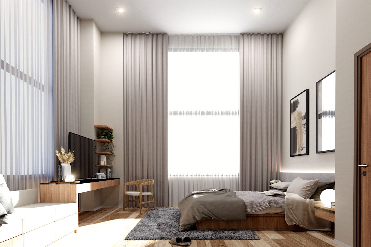 Zen Skyline Master Bedroom perspective
