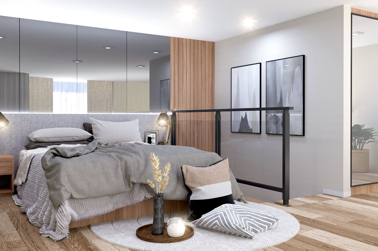 Zen Skyline Bedroom perspective