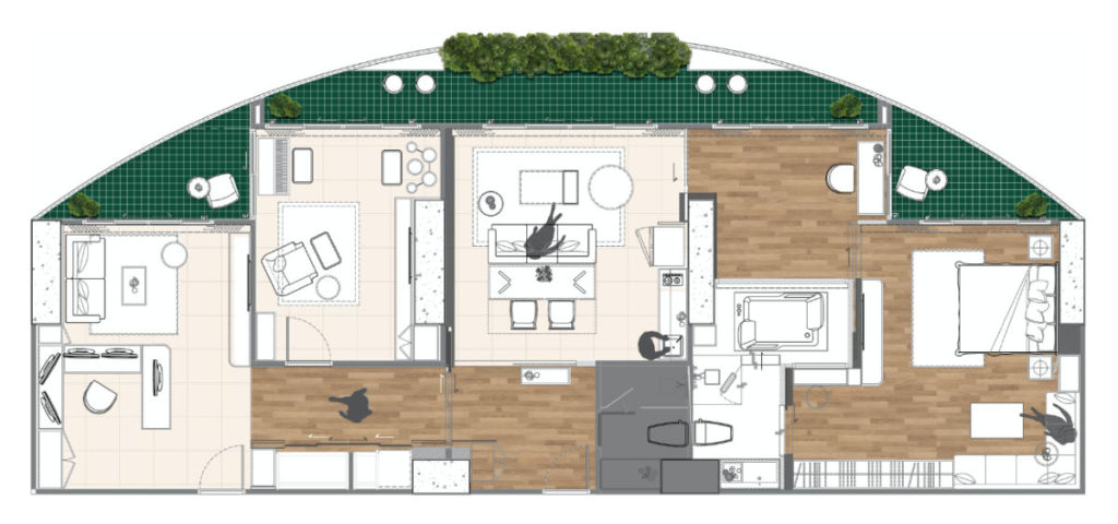 Timeless Penthouse Layout After