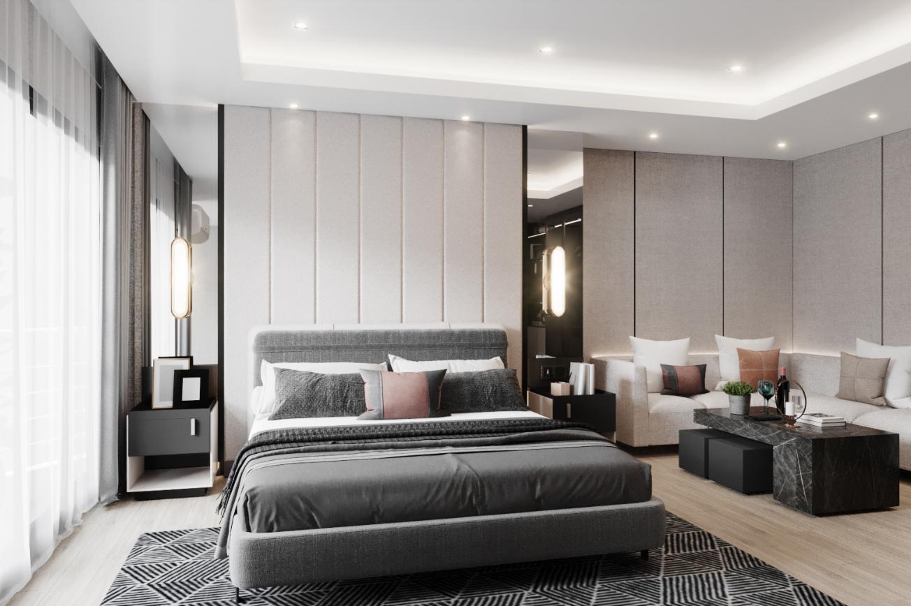 Master Bedroom Timeless Penthouse-Ratchada Pavilion