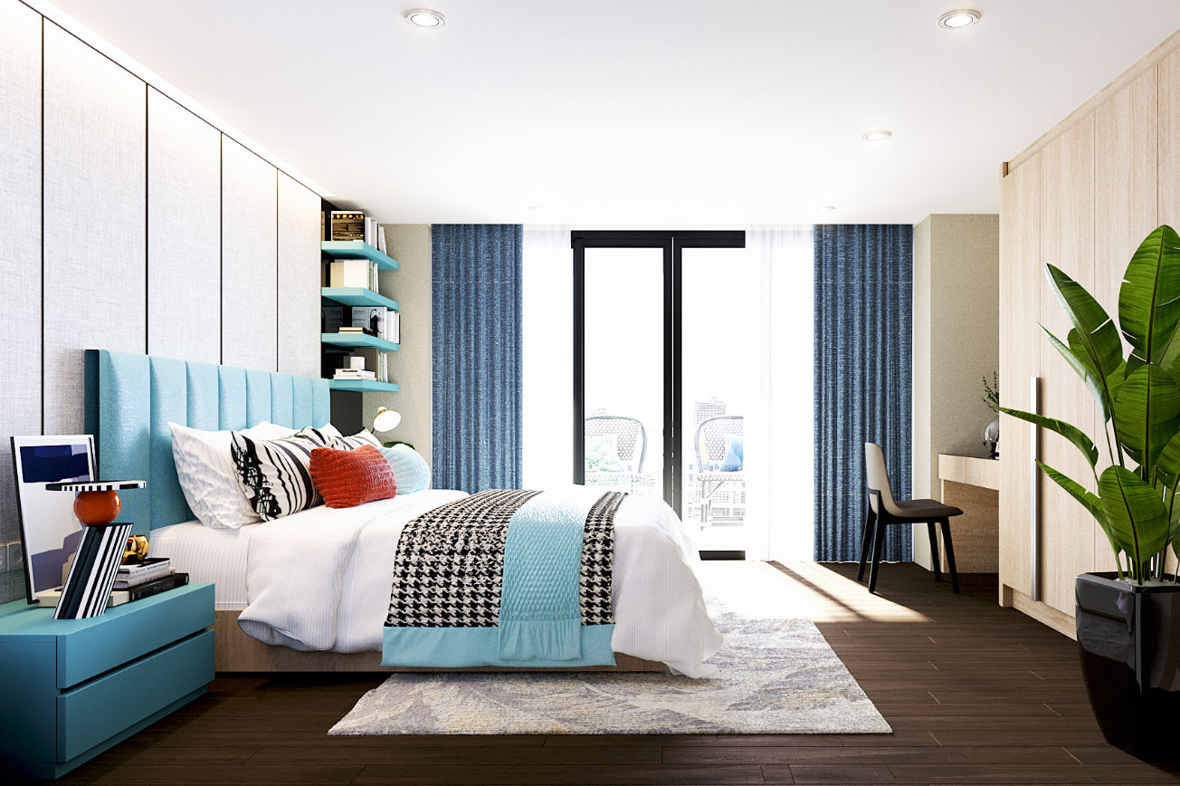 Turquoise Breeze Bedroom