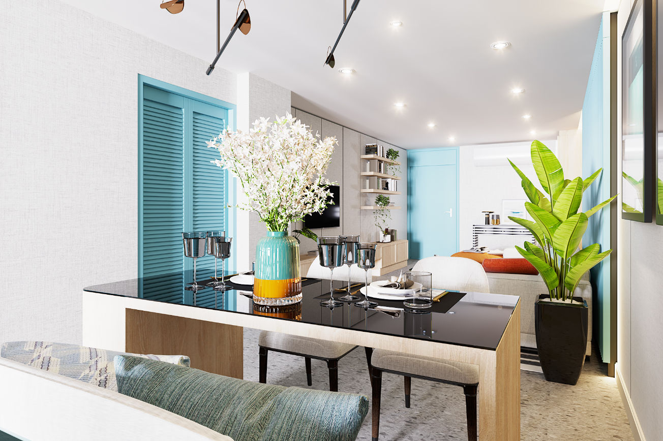 Turquoise Breeze Living Room