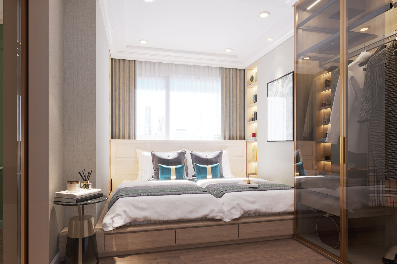 Neutral Classic Guest Bedroom